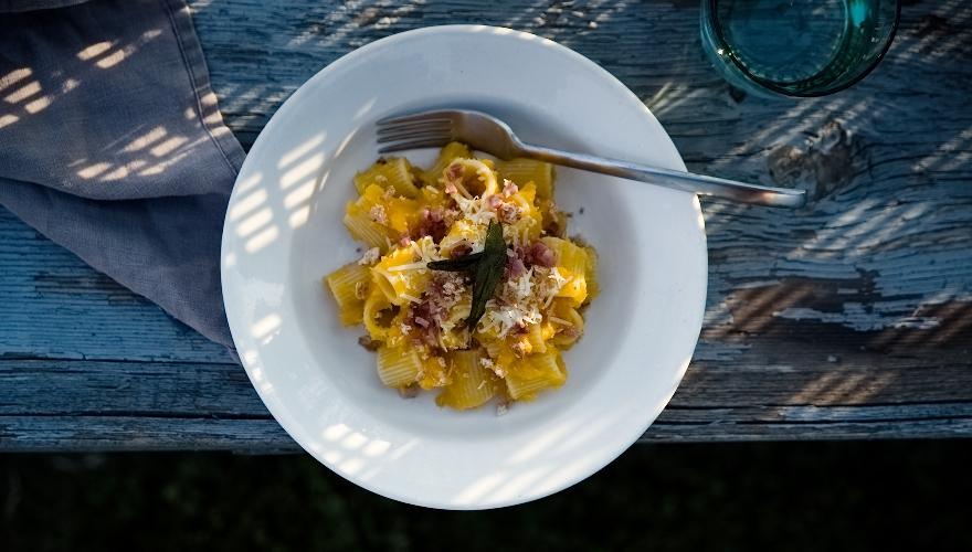 Pasta mit Kürbis und Amaretti